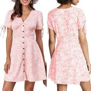Pink Valentina Floral Dress